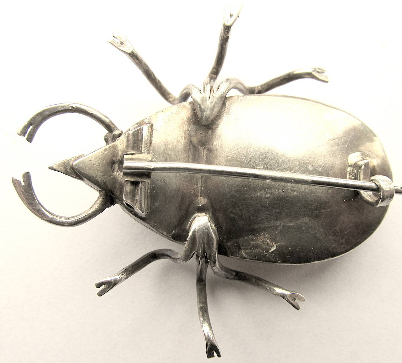 Women's Antique Rock Crystal Bug Pin For Sale