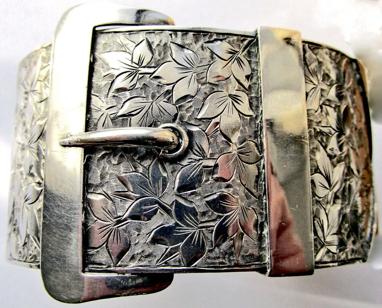 Antique Sterling Buckle Bracelet 4