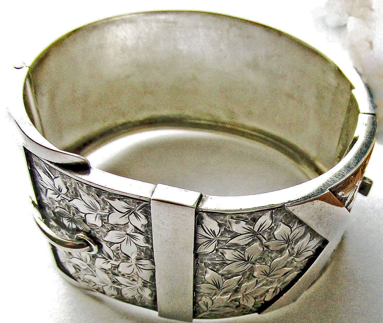 Antique Sterling Buckle Bracelet 5