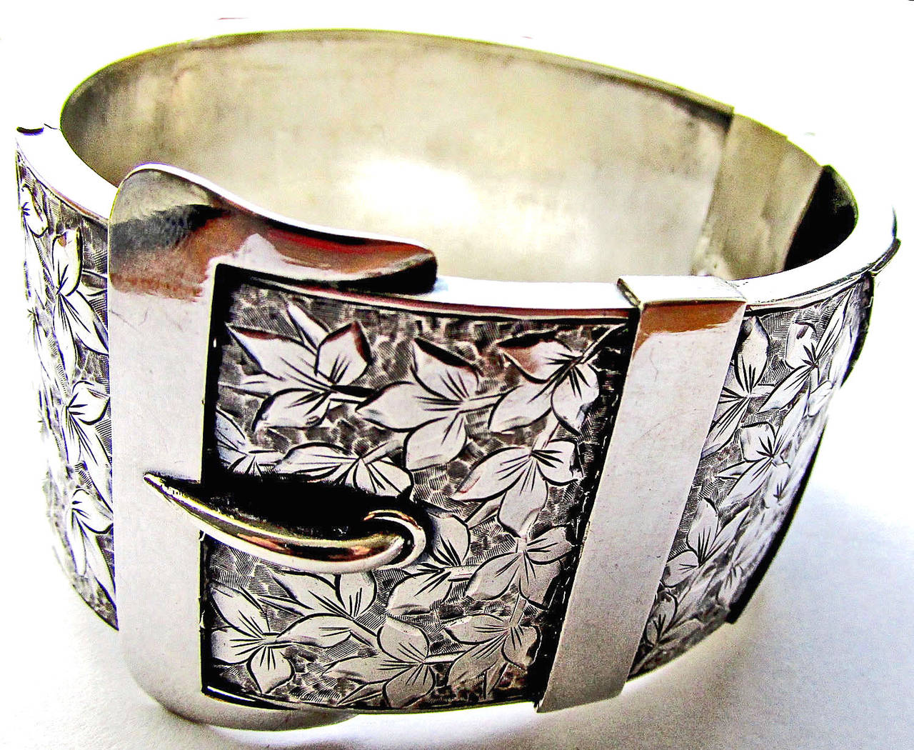 Antique Sterling Buckle Bracelet 3