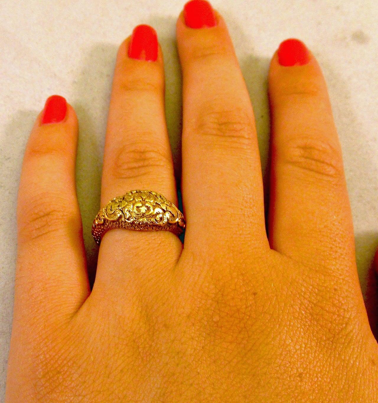 Antique Gold Memorial Ring Caroline of Brunswick Wife of George IV 10