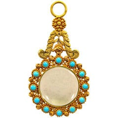 Antique Gold and Turquoise Quizzing Glass