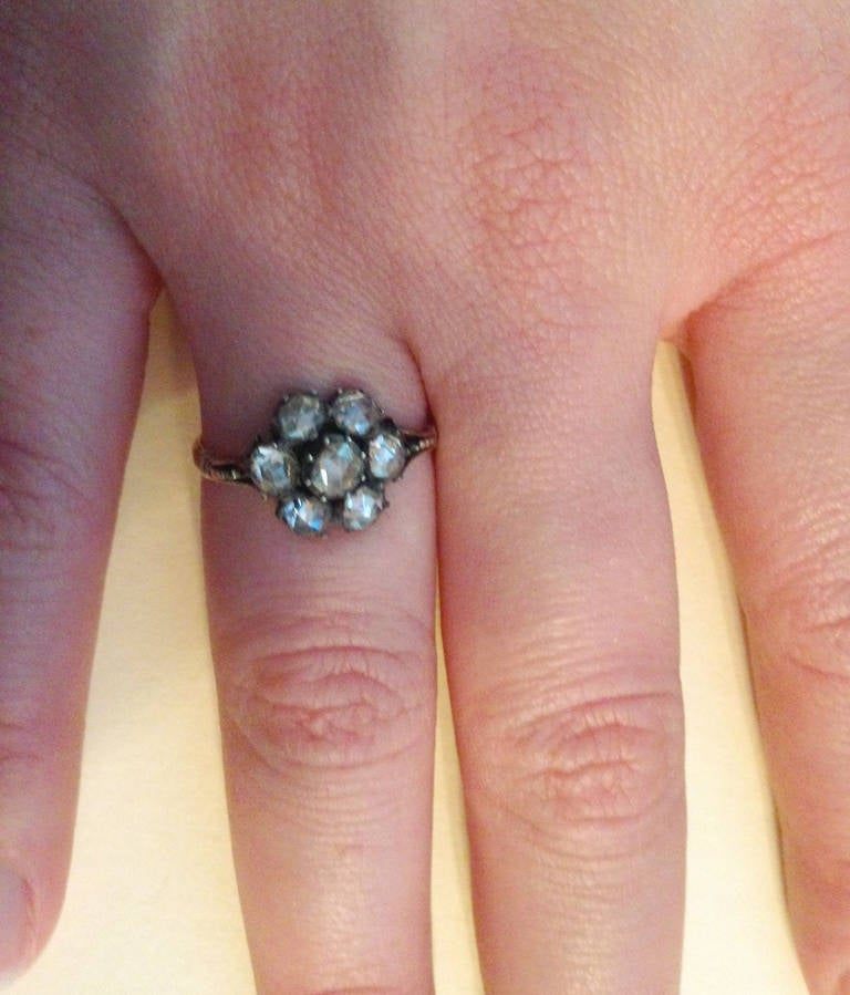 Georgian Diamond Cluster Ring 6