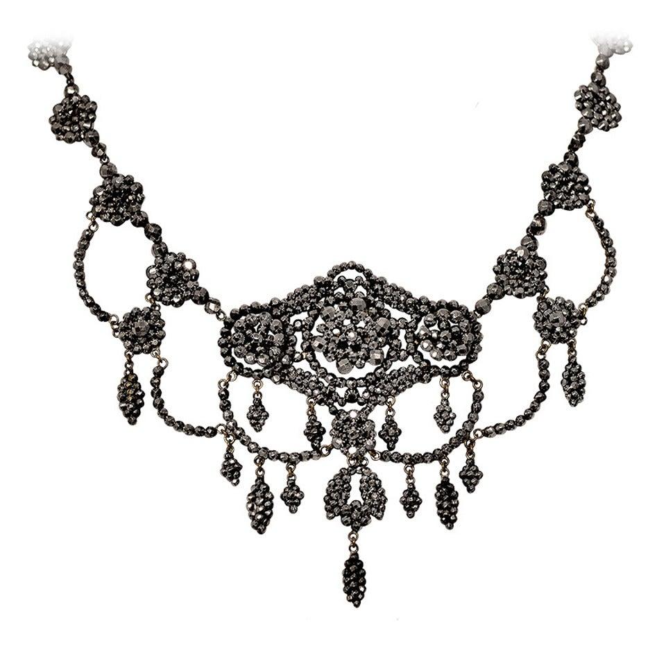 Antique Cut Steel Necklace, circa 1860