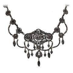 Antique Cut Steel Necklace, circa 1860