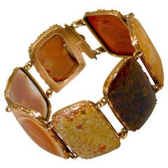 Antique Georgian Agate and Gold Bracelet, circa 1820