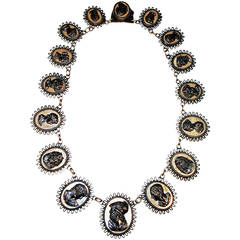 Antique Berlin Iron Cameo Necklace, circa 1815