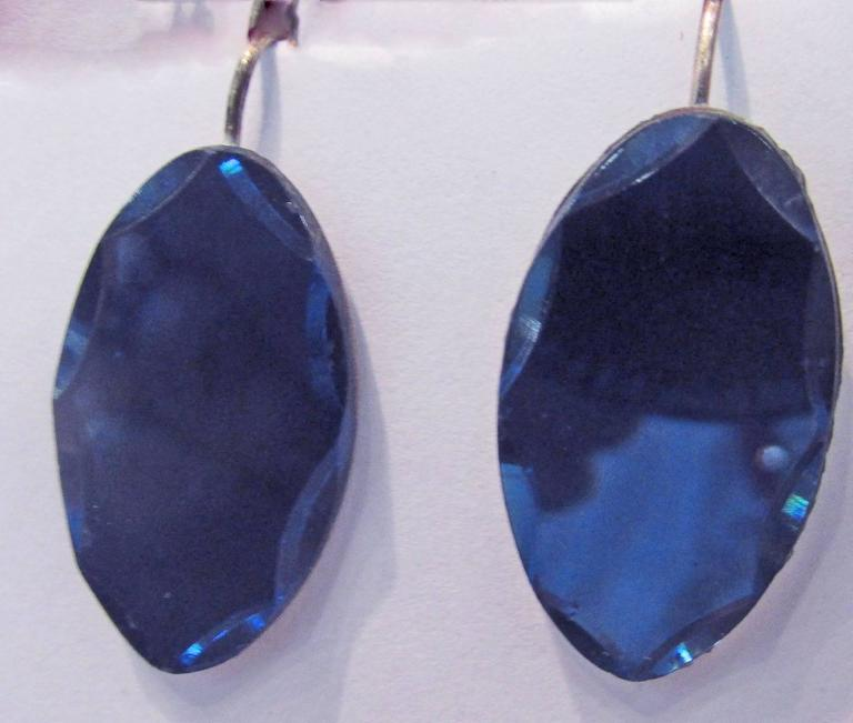 Antique Vauxhall Glass Drop Earrings For Sale At 1stdibs
