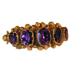 Antique Georgian Foiled Rock Crystal Gold Ring