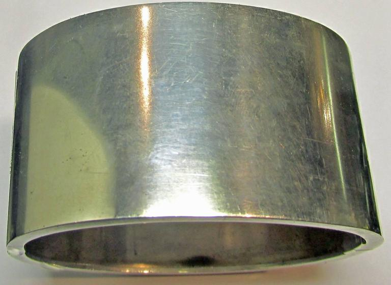 Antique Victorian Sterling Silver Buckle Motif Cuff Bracelet For Sale 6