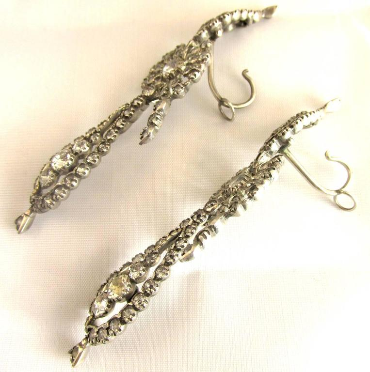 antique statement product silver metal earrings link