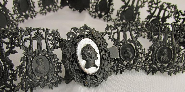 Women's Antique Berlin Iron Pair of Bracelets For Sale