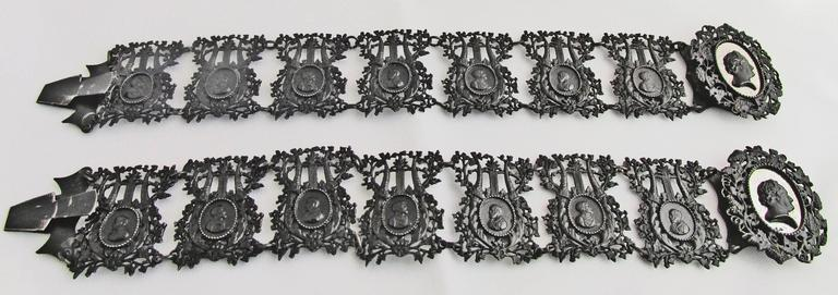 Antique Berlin Iron Pair of Bracelets In Excellent Condition For Sale In Baltimore, MD
