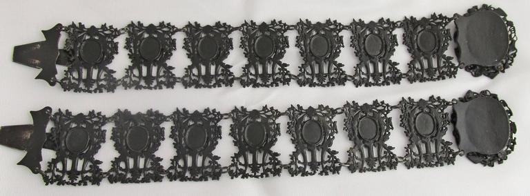Antique Berlin Iron Pair of Bracelets For Sale 4