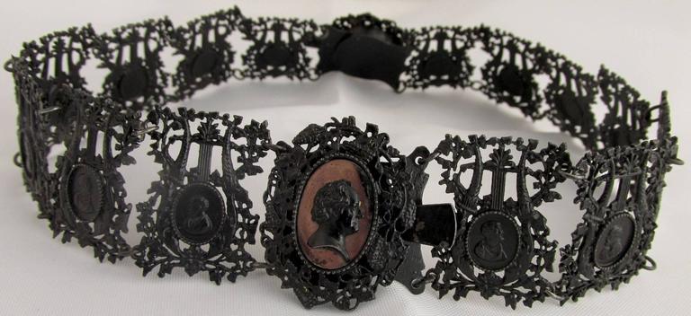 Antique Berlin Iron Pair of Bracelets For Sale 2