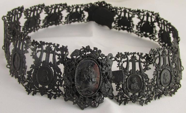 Antique Berlin Iron Pair of Bracelets For Sale 3