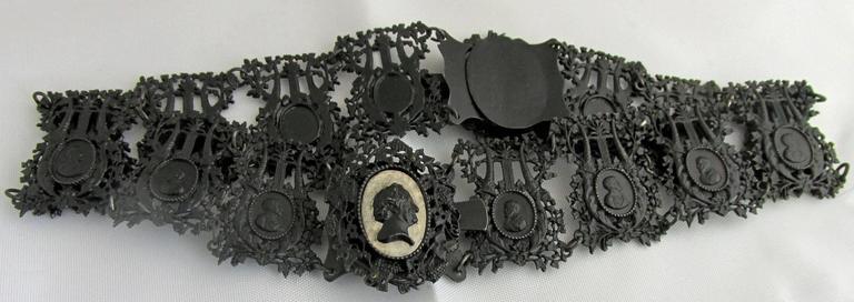 Antique Berlin Iron Pair of Bracelets For Sale 1