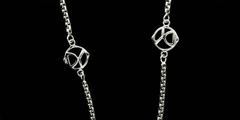 David Yurman 36 Inch 6 Station Logo Box Chain Necklace At