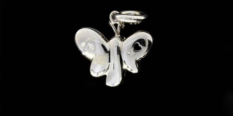 Aaron Basha Retired Diamond Gold Butterfly Polka Dot Charm 2