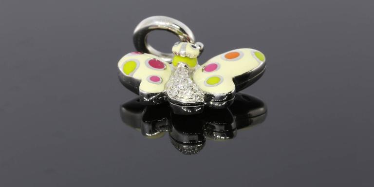 Aaron Basha Retired Diamond Gold Butterfly Polka Dot Charm 3