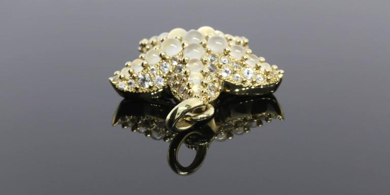 Pomellato Moonstone Gold Sirene Starfish Pendant In Excellent Condition For Sale In Columbia, MO