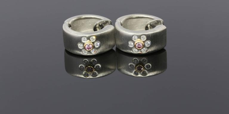 These Unique Earrings Are Beautiful Platinum 18 Karat Rose Gold Diamond From Suna Brothers