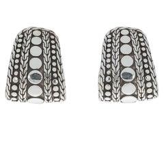 John Hardy Nuansa Dot Sterling Silver J-Hoop Earrings