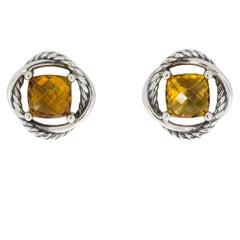 David Yurman Citrine Infinity Sterling Silver Stud Earrings