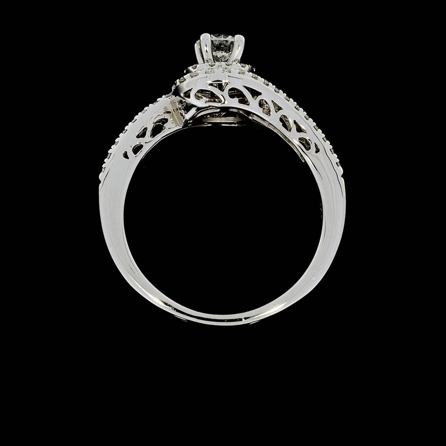 wedding of rings size halo sterling cz econtechvn engagement set beautiful band silver awesome tolkowsky source image pinterest com