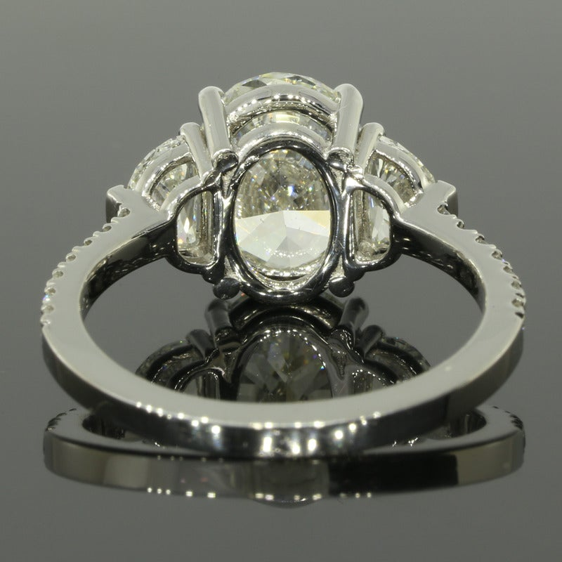 2 53 Carat GIA Cert Oval Diamond Platinum Engagement Ring at 1stdibs