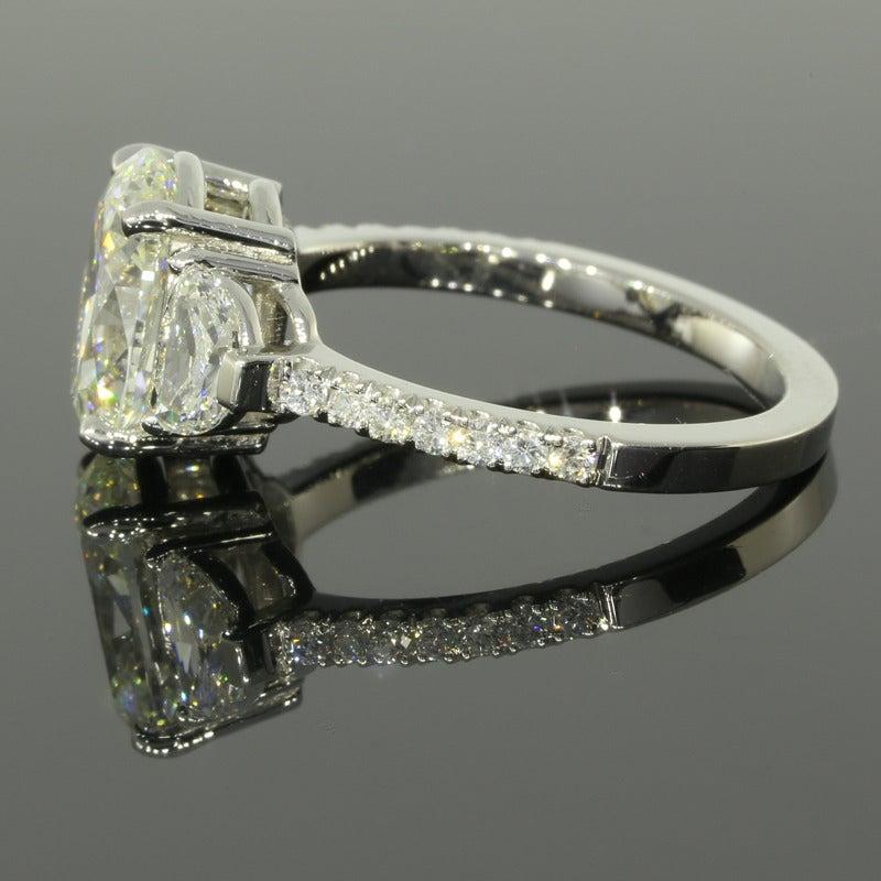 2 53 Carat GIA Cert Oval Diamond Platinum Engagement Ring at 1stdibs