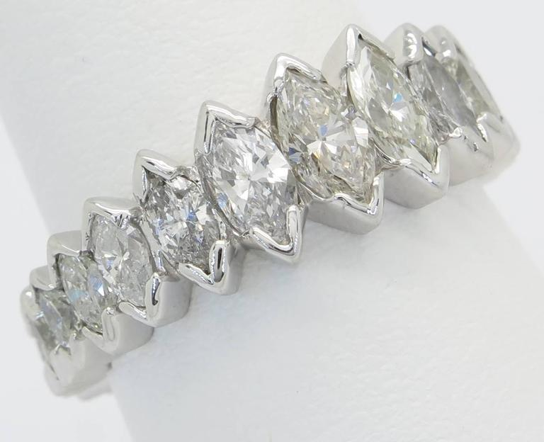 Marquise Diamond Gold Eternity Band At 1stdibs