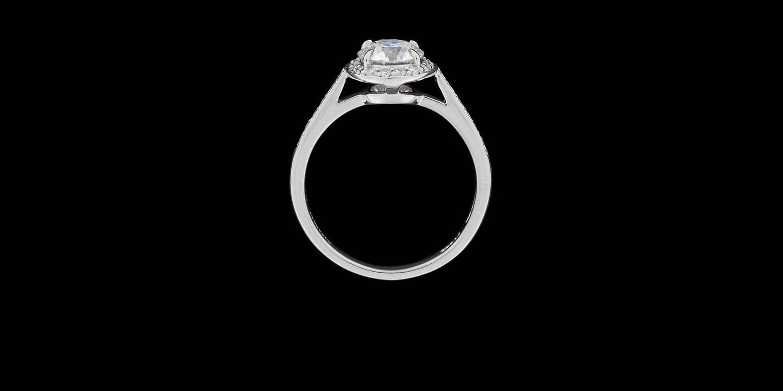 Tiffany and Co. 1.06 Carat Diamond Platinum Embrace Halo ...