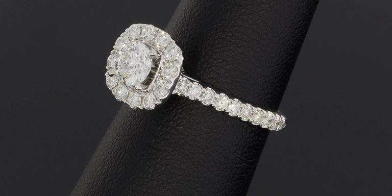 neil lane diamond gold cushion shaped halo engagement and