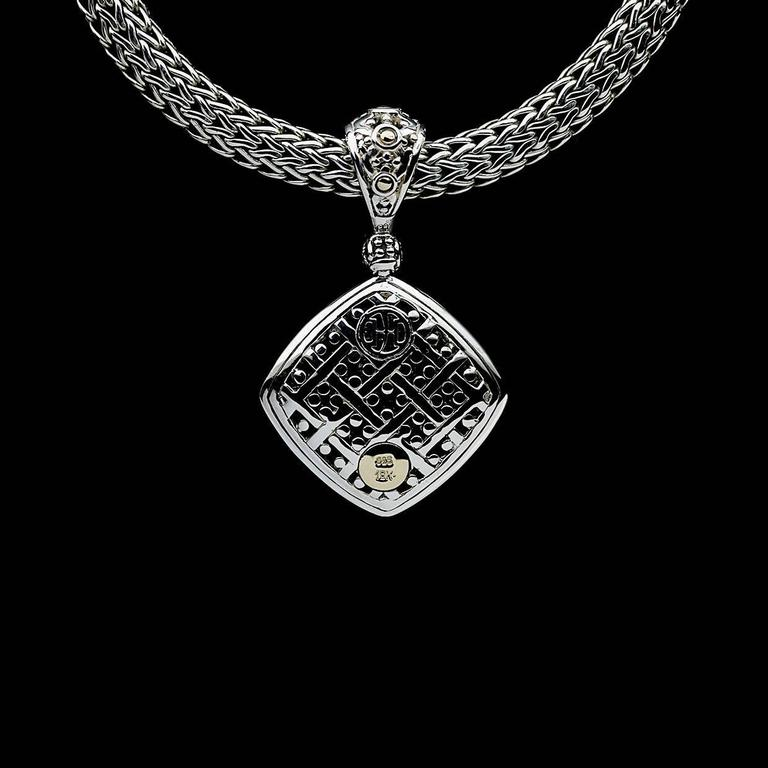 John Hardy Silver And Gold Pave Diamond Jaisalmer Dot