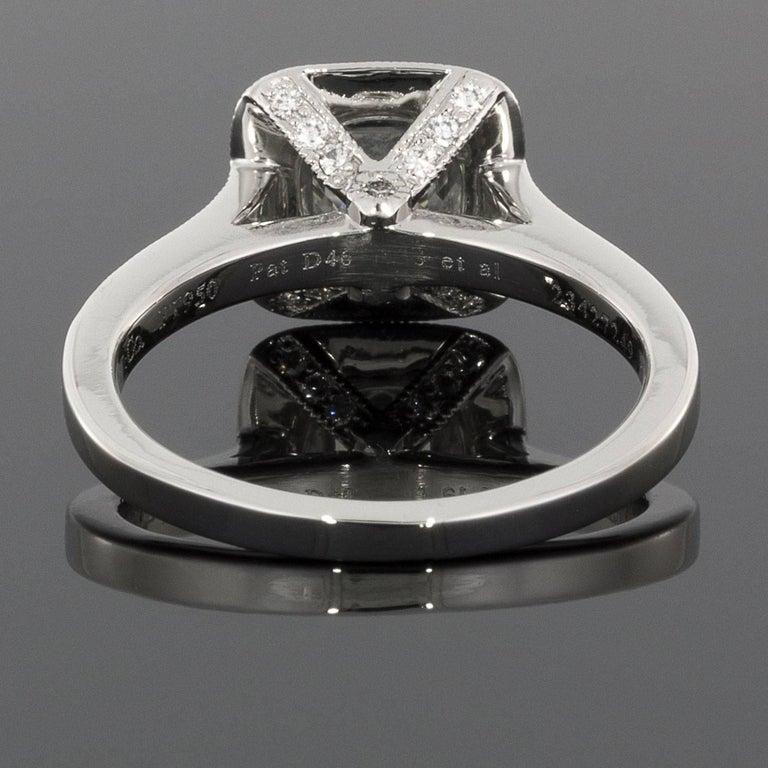 Tiffany And Co Cushion Diamond Legacy Platinum Halo