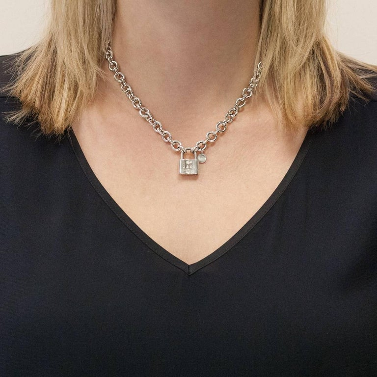 Tiffany And Co Sterling Silver 1837 Lock Necklace At 1stdibs