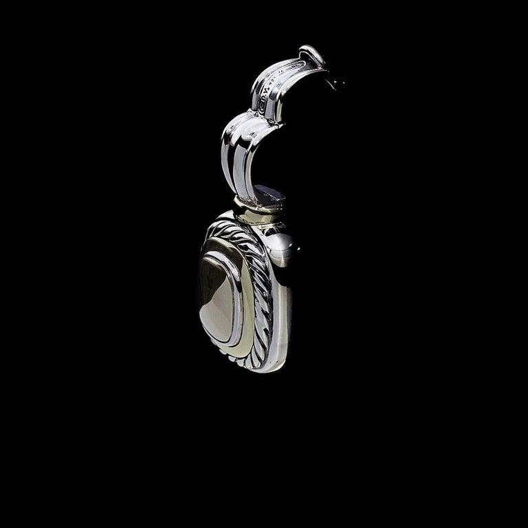 David Yurman 14 Karat Gold and Silver Albion Enhancer Pendant 2