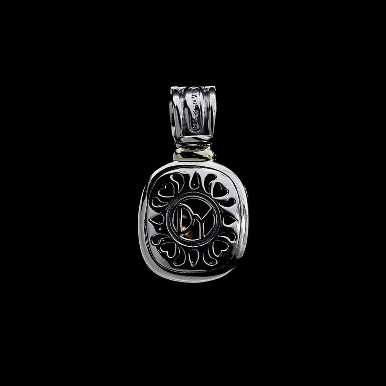 David Yurman 14 Karat Gold and Silver Albion Enhancer Pendant In Excellent Condition For Sale In Columbia, MO