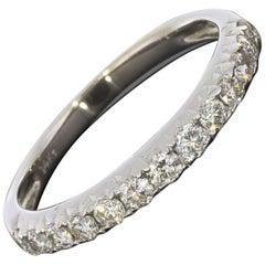 0.42CTW Diamond 14K White Gold Wedding Band