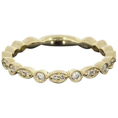Gabriel & Co .24 Carat Scalloped Stackable Wedding Band Ring