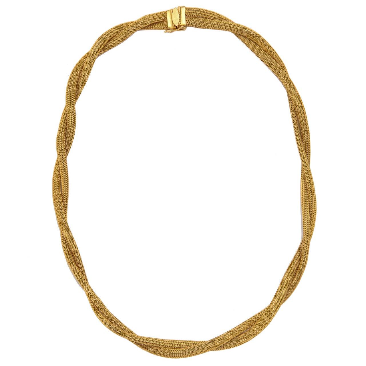Handmade Woven gold chain