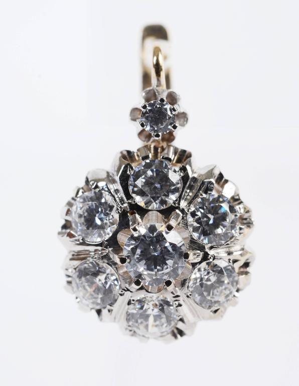 1 karat earrings 14 karat gold and cubic zirconia earrings for sale at 1stdibs 8356