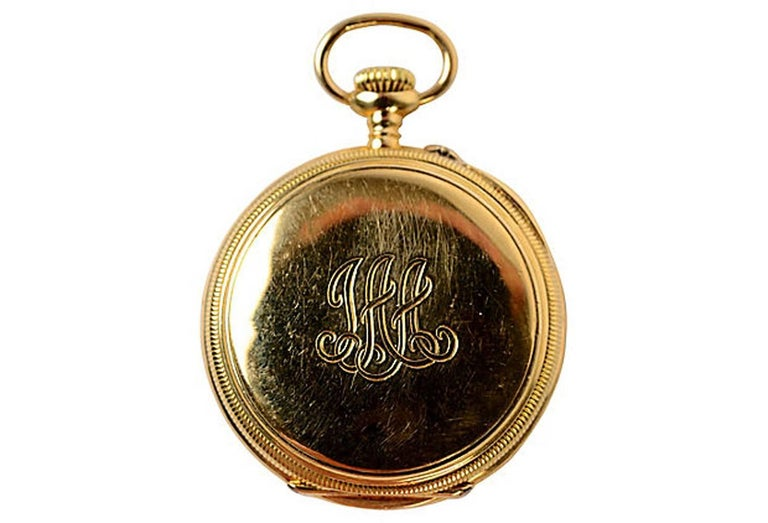 Vacheron Constantin 18K gold pocket watch dating from the late 19th century. Vacheron Constantin, one of the oldest continuously operating watch manufacturers in the world, founded in 1755 by Jean-Marc Vacheron and  François Constantin. It