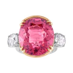 PB & Co. Rose Dope 29.30 Carat Color Change Tourmaline and Spinel Gold Ring
