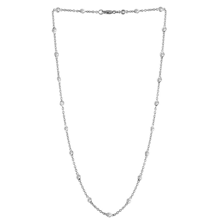 1.00 Carat Diamonds by the Yard Gold Necklace
