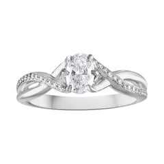 0.52 Carat Diamond Gold Oval Engagement Ring