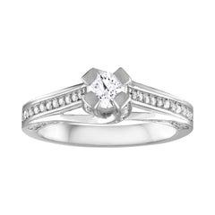 0.85 Carat Diamond Gold Round Engagement Ring