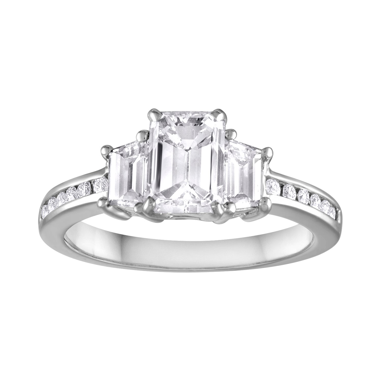 GIA Certified 1.16 Carat G VVS2 Diamond Three Stone Gold Ring