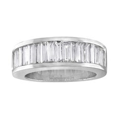 2.00 Carat Diamond Baguette Half Band Gold Ring